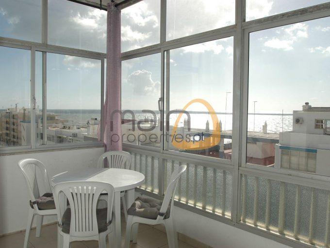 Apartamento de um quarto e vista mar em Quarteira - terraço