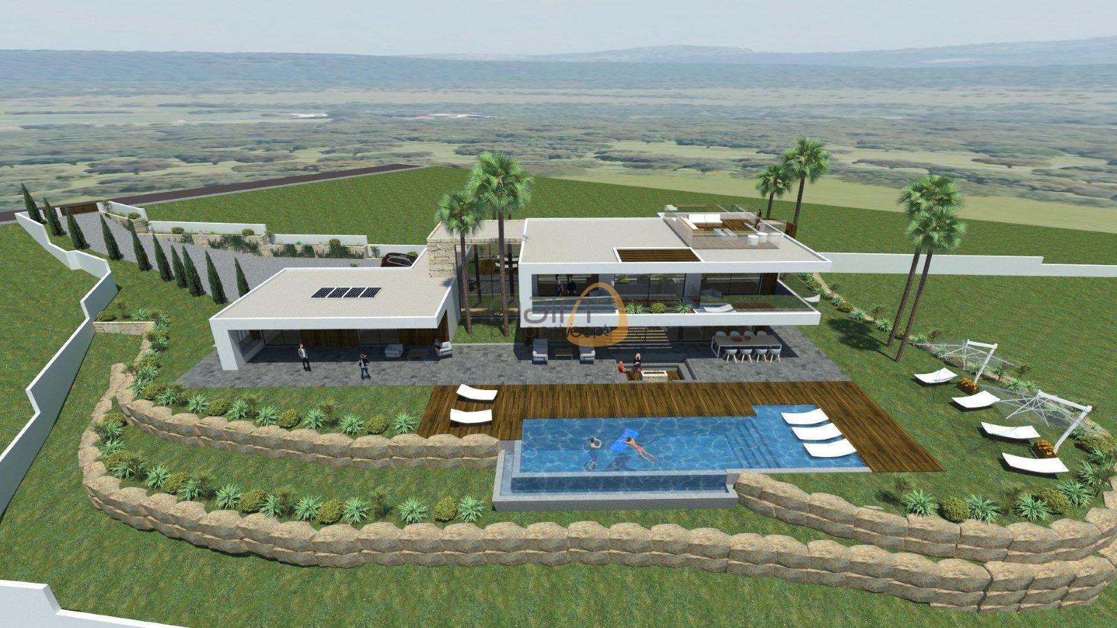 Land for construction of villa with sea view in Goldra – Santa Bárbara de Nexe