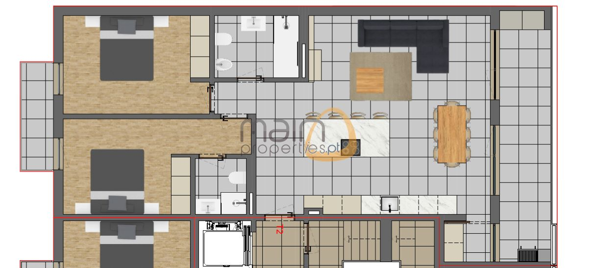 Apartamento com 2 quartos em construção próximo de Faro PC340_6
