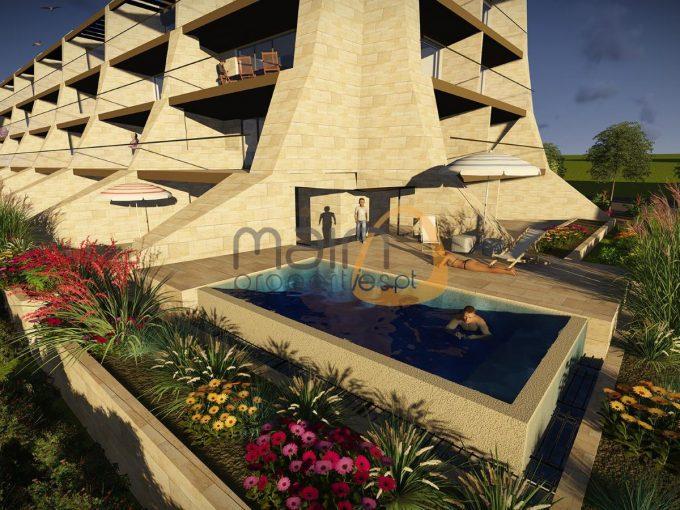Apartamento de luxo com 2 quartos em condomínio fechado, Vilamoura - piscina