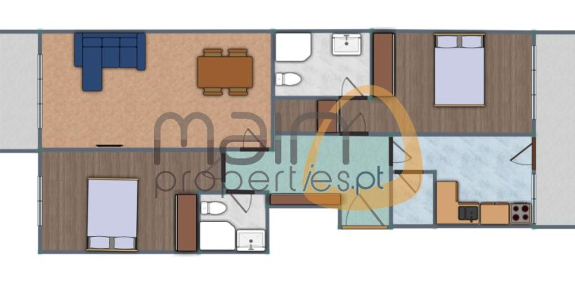 Apartment with 2 bedrooms under construction in the center of Loulé