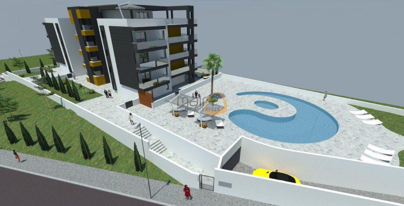 Apartamento novo com 3 quartos e piscina próximo da praia de Quarteira