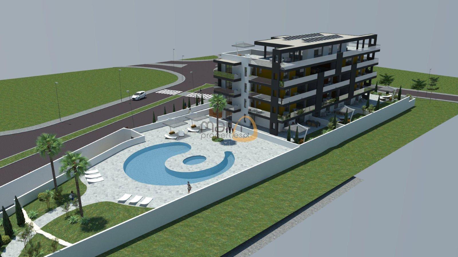 Apartamento novo com 3 quartos e piscina próximo da praia de Quarteira JG073_2