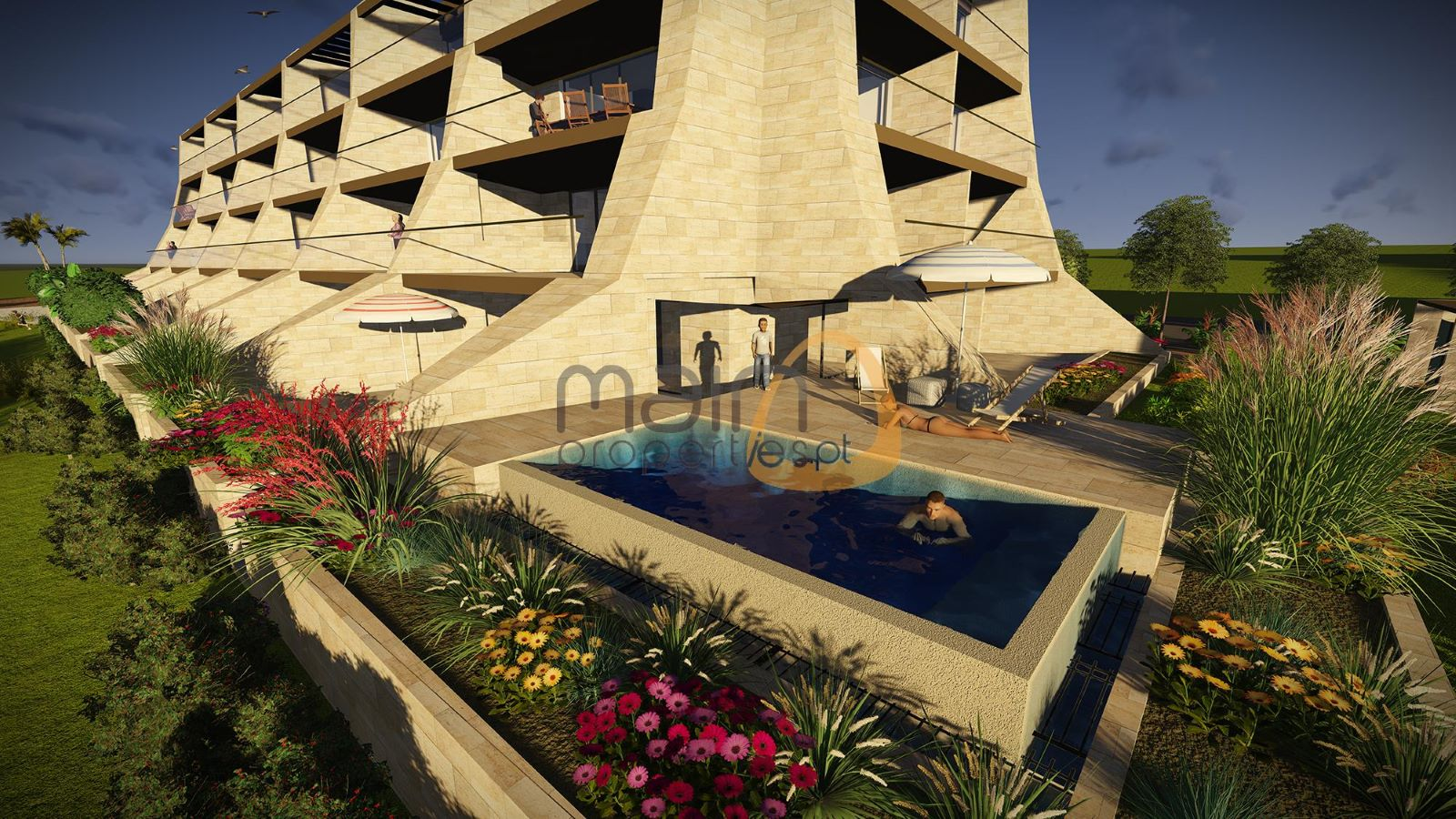 Luxury 2 bedroom apartment with private pool under construction in Vilamoura