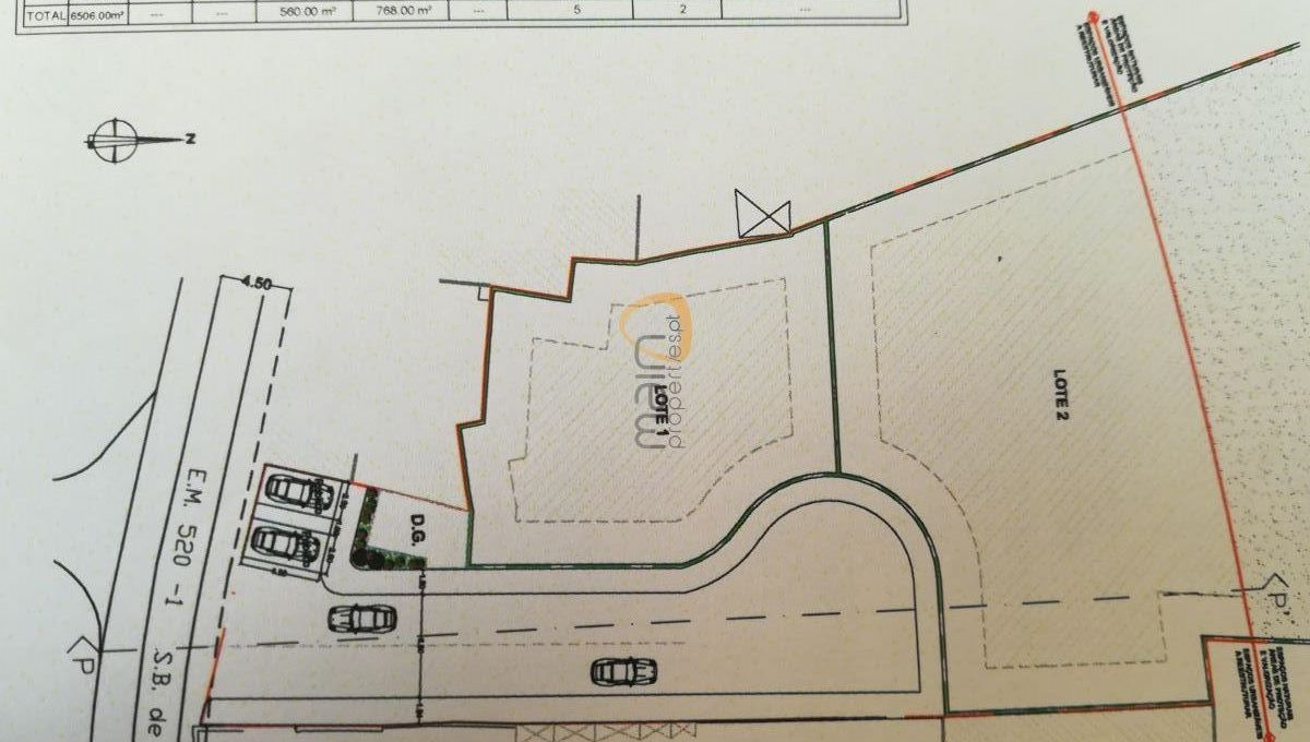 2 lotes de terreno para construção de 2 moradias com vista mar próximo de Santa Bárbara de Nexe PC346