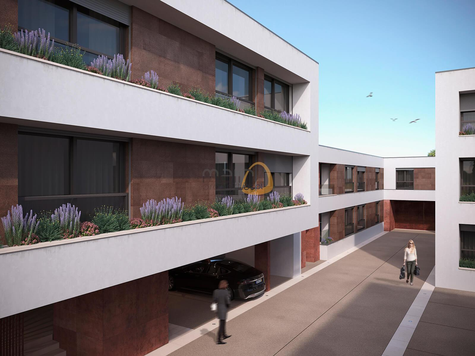 2 bedroom duplex apartment in a luxury development in the center of Faro