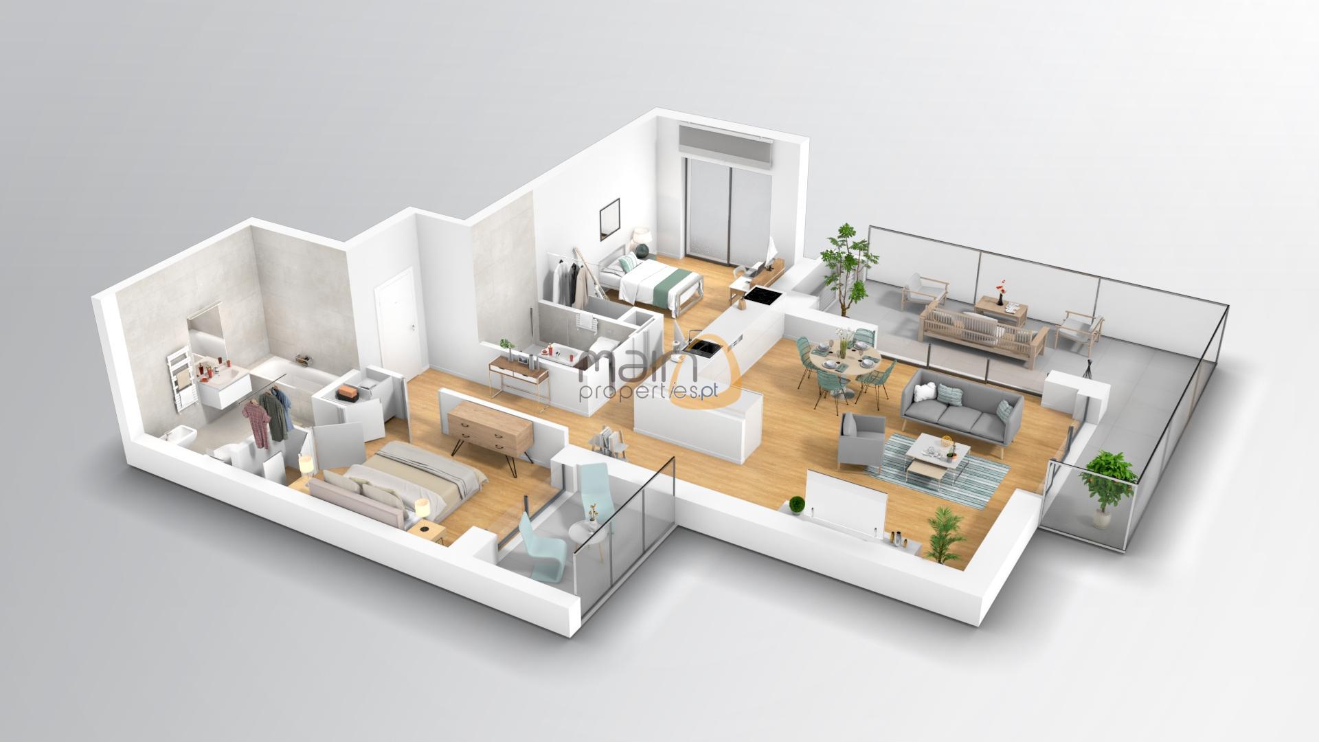 T2 1º to 8º floor East-South
