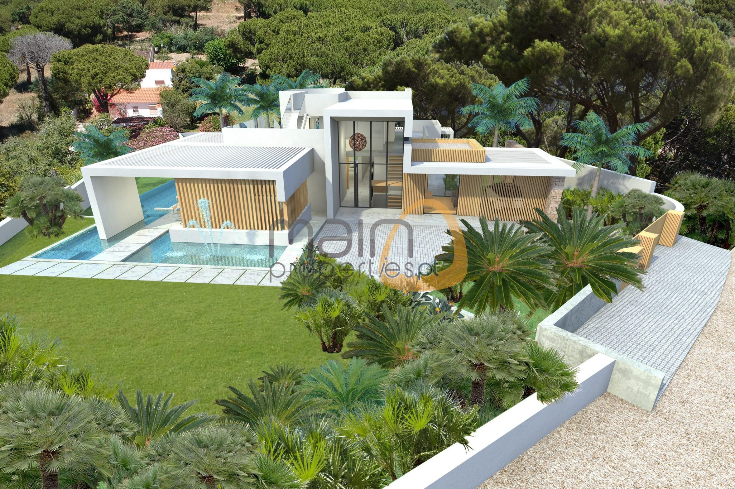 Plot with project for new house in Vale do Lobo.